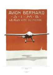 Aviation Art Poster: AVION BERNARD - SIMB - LE PLUS VITE DU MONDE, 1925