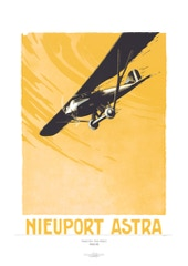 Aviation Art Poster: NIEUPORT ASTRA, 1925
