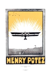 Aviation Art Poster: HENRY POTEZ - AVIONS MILITAIRES & COMMERCIAUX, 1925