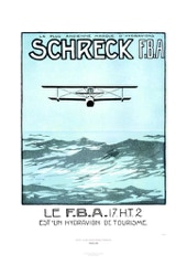 Aviation Art Poster: SCHRECK - LA PLUS ANCIENNE MARQUE D'HYDRAVIONS, 1925