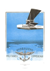 Aviation Art Poster: CAMS - HYDRAVIONS MILITAIRES COMMERCIAUX, 1924
