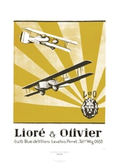 Aviation Art Poster: LEO - LIORÉ & OLIVIER, 1925