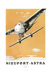 Aviation Art Poster: NIEUPORT ASTRA, 1924