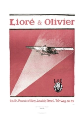 Aviation Art Poster: LEO - LIORÉ & OLIVIER, 1924