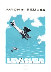Aviation Art Poster: LEVASSEUR - AVIONS HÉLICES, 1933