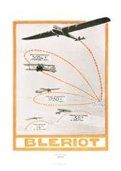 Aviation Art Poster: BLERIOT - ROUTES AÉRIENNES, 1925