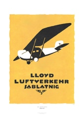 Aviation Art Poster: LLOYD LUFTVERKEHR SABLATNIG, 1920