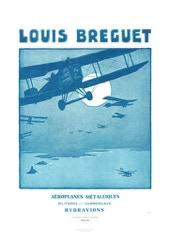 Aviation Art Poster: LOUIS BREGUET - AÉROPLANES MÉTALLIQUES, 1922