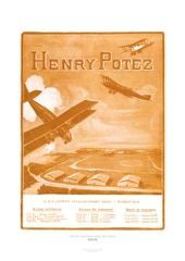 Aviation Art Poster: HENRY POTEZ - AVIONS MILITAIRES, TRANSPORT, SPORT ET TOURISME, 1922