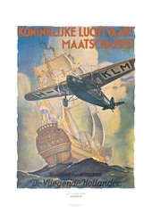 Aviation Art Poster: KLM - DER FLIEGENDE HOLLÄNDER, 1926