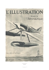Aviation Art Poster: L'ILLUSTRATION L'AÉRONAUTIUE, 1930