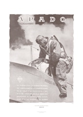 Aviation Art Poster: ARADO AR 96 - ARADO FLUGWERKE POTSDAM, GERMANY 1941