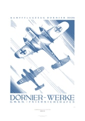 Aviation Art Poster: KAMPFFLUGZEUG DORNIER DO 215 - DORNIER-WERKE, GERMANY 1941