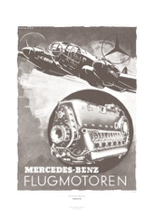 Aviation Art Poster: MERCEDES- BENZ FLUGMOTOREN, GERMANY 1941