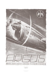Aviation Art Poster: ARGUS FLUGMOTOREN, GERMANY 1943