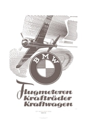 Aviation Art Poster: BMW - FLUGMOTOREN, KRAFTRÄDER, KRAFTWAGEN, GERMANY 1942