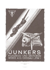 Aviation Art Poster: JUNKERS - FLUGZEUG- UND MOTORENWERKE, GERMANY 1942